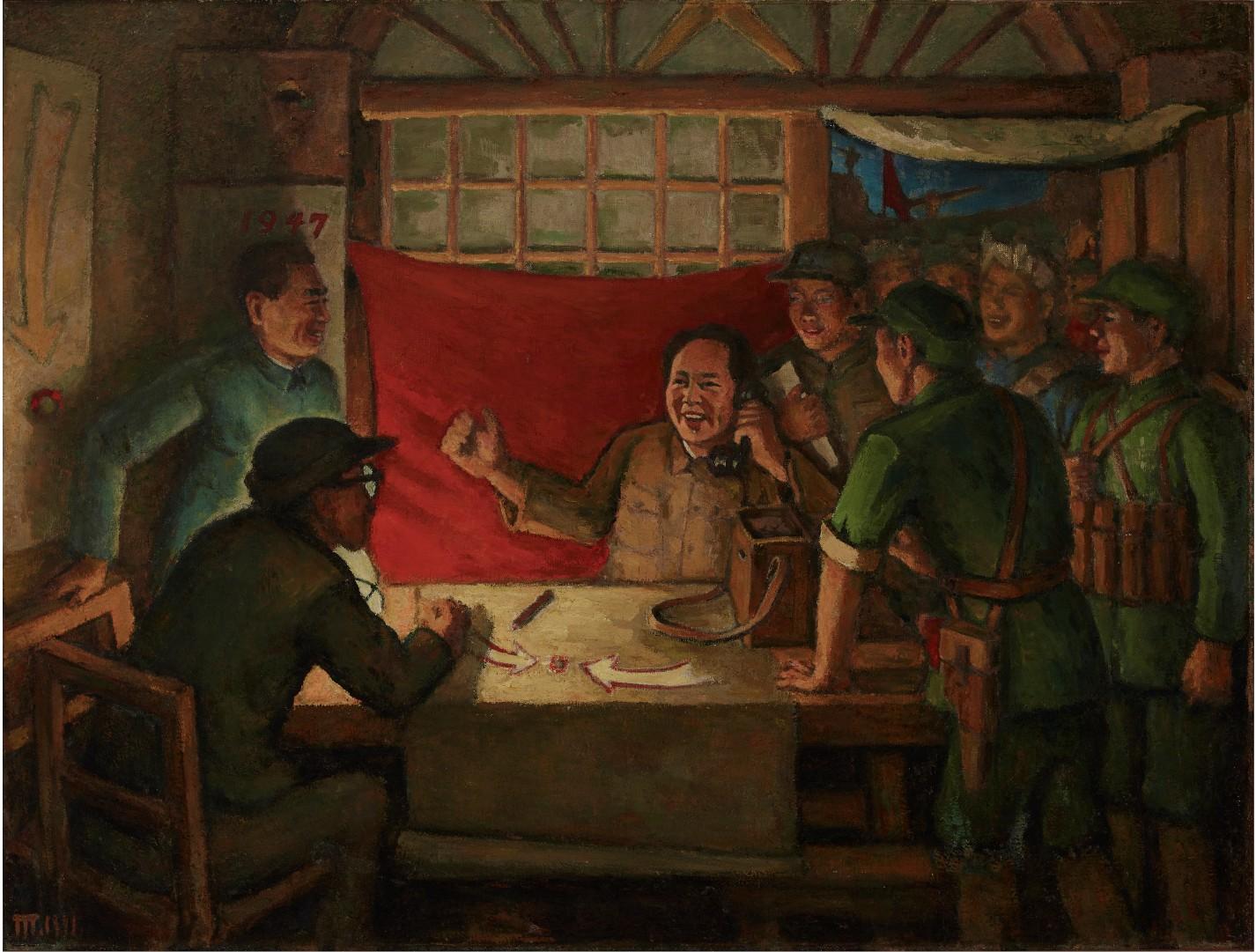 30《转折前夕》,胡一川,1977年,广州,布面油画,131cm×170cm,胡一川研究所藏.jpg