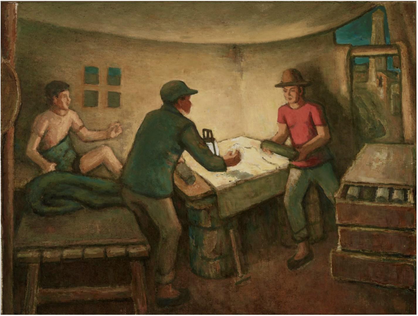 31《见矿》,胡一川,1994年,广州,布面油画,140cm×186cm,胡一川研究所藏.jpg