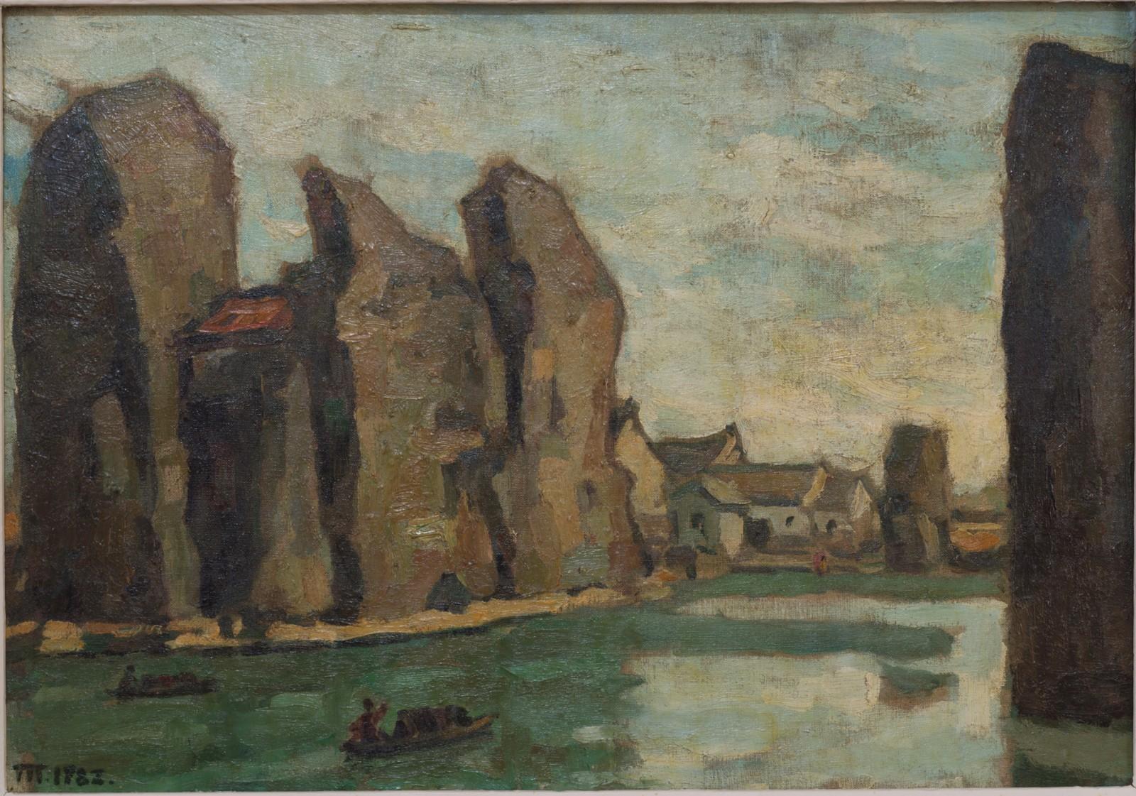 34 石佛寺,1982年,作于浙江,布纹纸,535cm×755cm.jpg